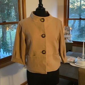 Michael Kors pea coat button down 3/4 sleeve med
